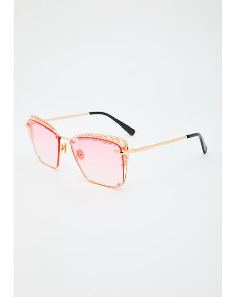 Ruby Clear Vision Rectangle Sunglasses
