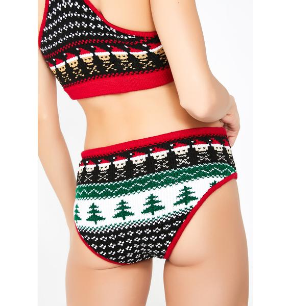 Knitty Kitty Santa Skull Panty
