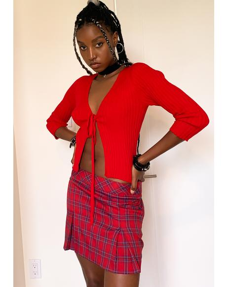 Off The Walls Tartan Skirt