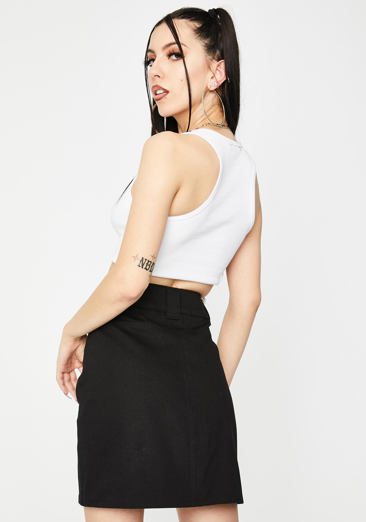 Local Heroes Black Pocket Mini Skirt