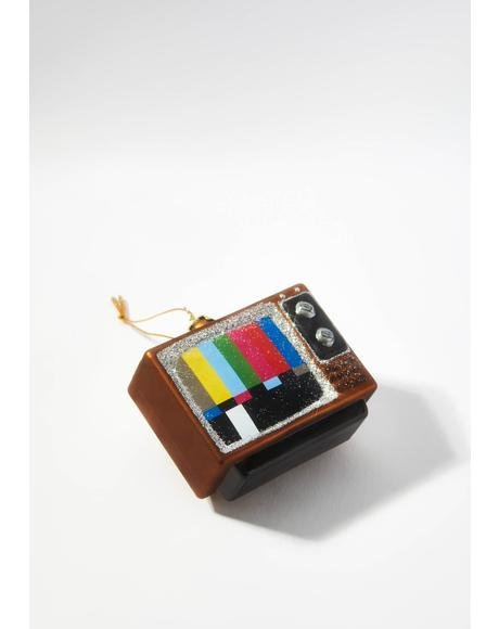 Life In Technicolor Vintage Television Ornament