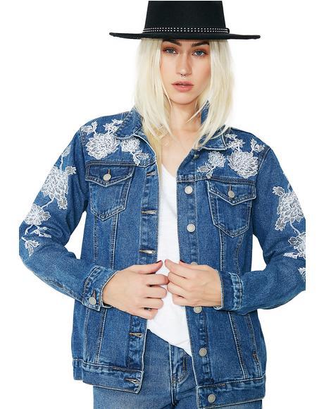 Desert Floral Denim Jacket