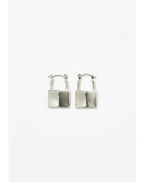 Monster Inside Lock Earrings