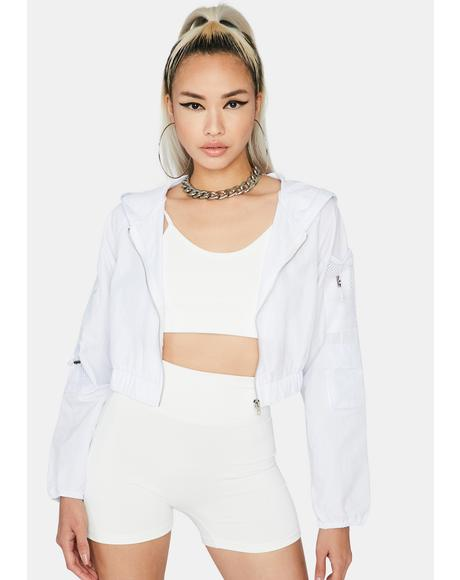 Icy Danger Ahead Crop Jacket