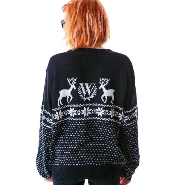 Wildfox Couture Pastel Snow Babe Holiday Sweater
