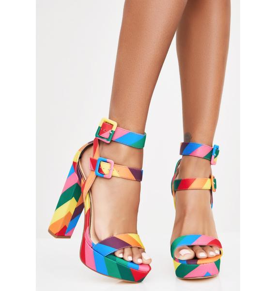 Freaky Double Vision Platform Heels