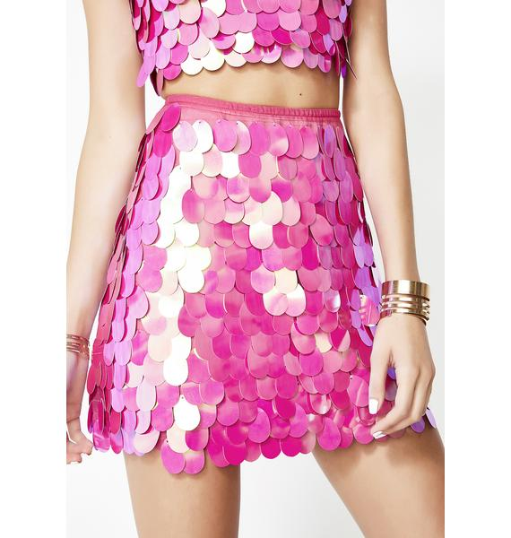 Motel Cotton Candy Wyne Skirt