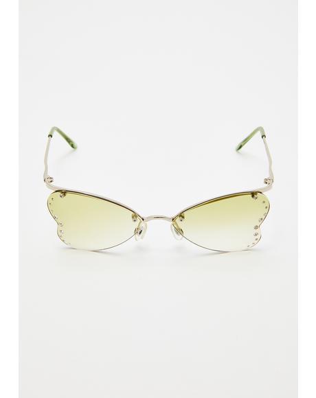 Nympha Rhinestone Sunglasses