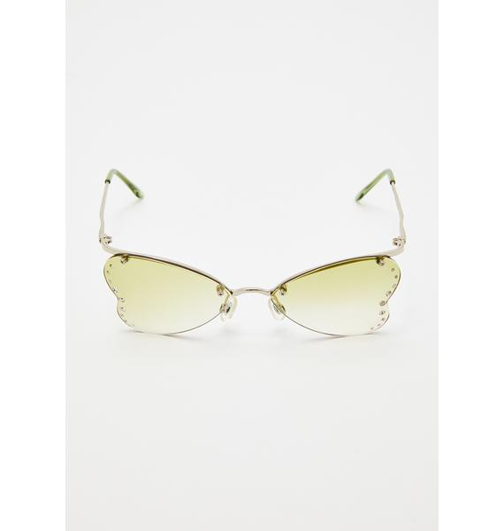 Giant Vintage Nympha Rhinestone Sunglasses