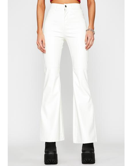 Purely Faux Leather Flare Pants