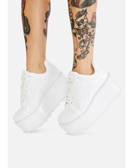 Eraser Lala Patent Platform Sneakers