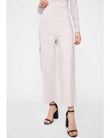Wide Leg Cargo Trousers