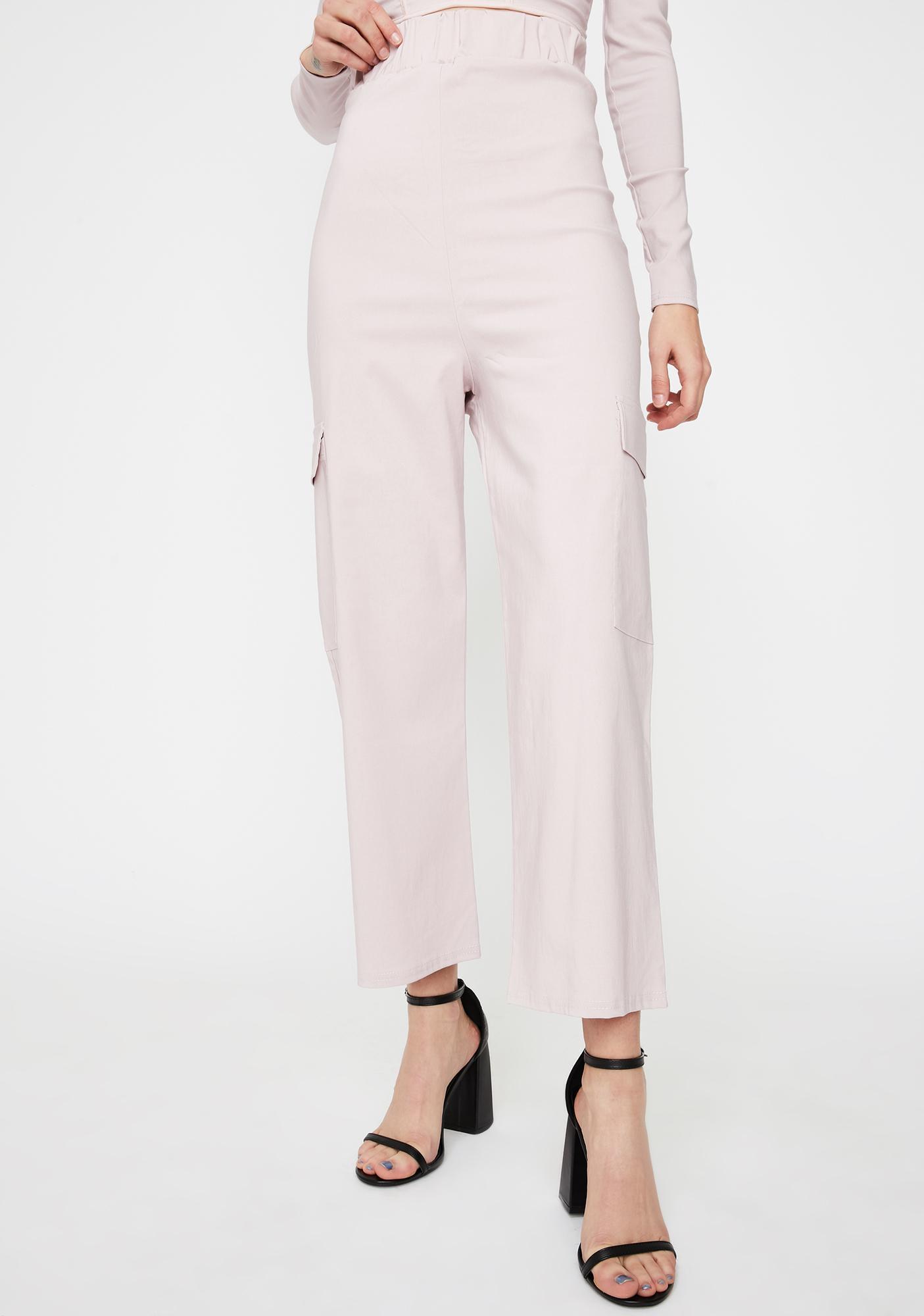 NEW GIRL ORDER Wide Leg Cargo Trousers