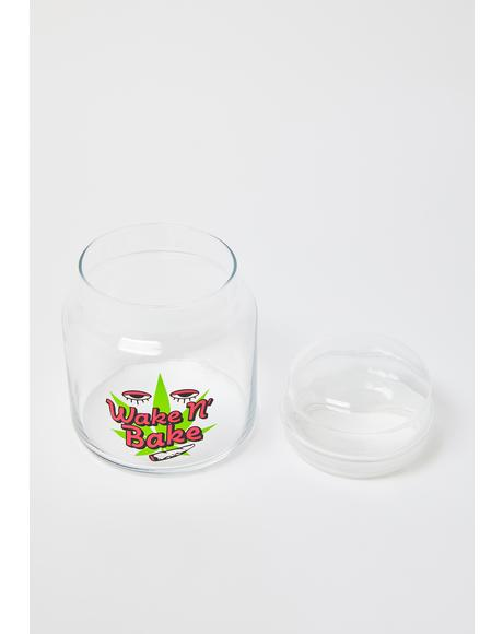 Wake N' Bake 16 Oz Glass Canister