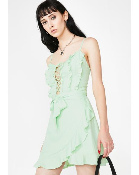 Mint Mojito Ruffled Dress