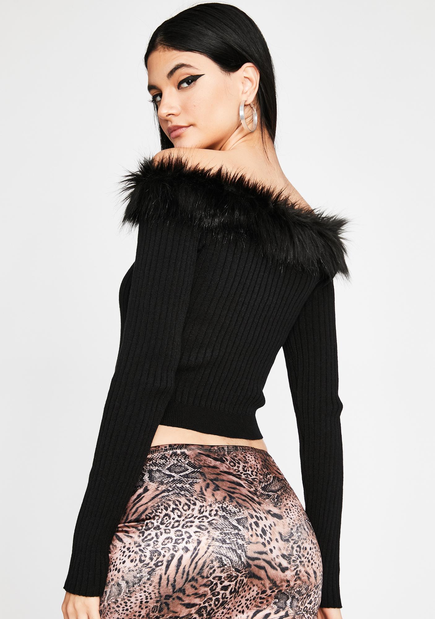 Designer Taste Faux Fur Sweater