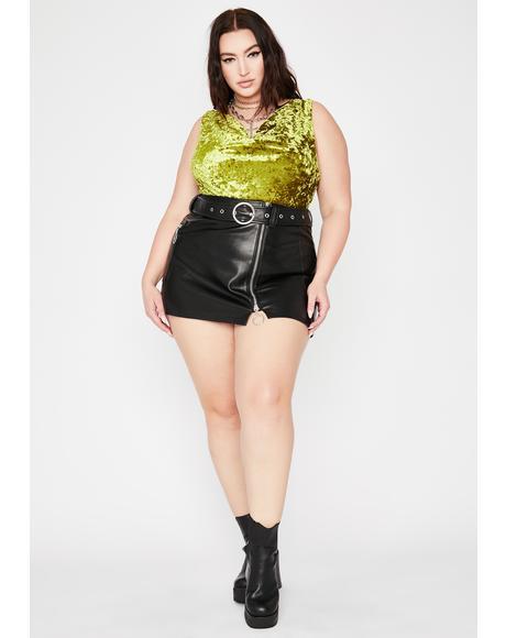 Dank Ur Flirty Fantasy Velvet Bodysuit
