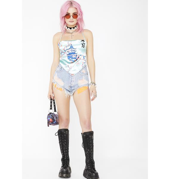 Atomic Drip Denim Shorts