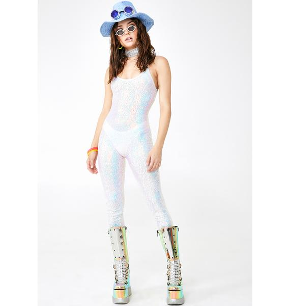 J Valentine Cosmic Ice Sequin Catsuit