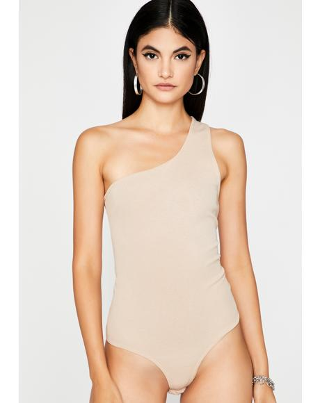 Pop The Clutch Asymmetrical Bodysuit