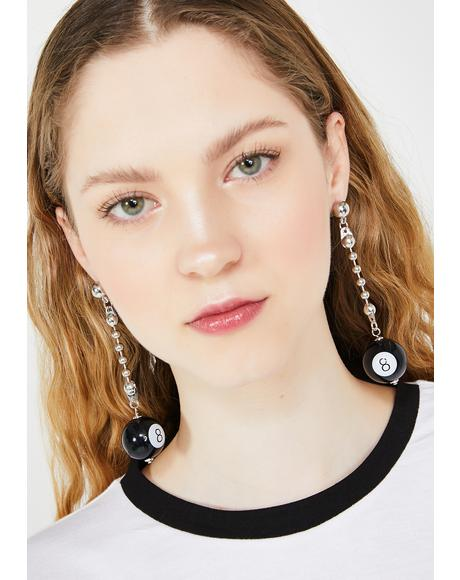 Table Play 8 Ball Earrings