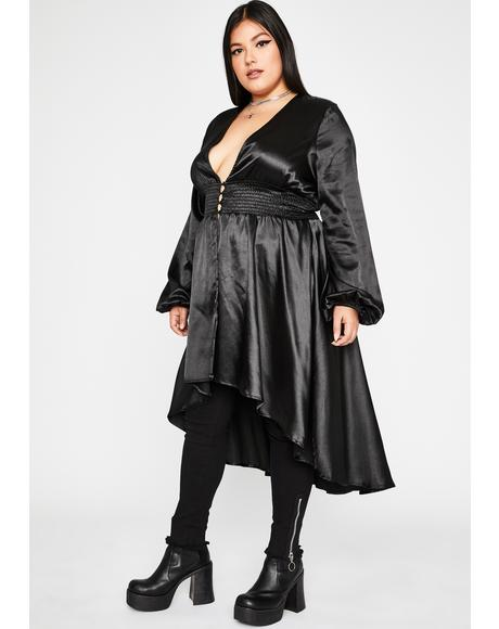 Dark Wicked Binding Spell Satin Duster