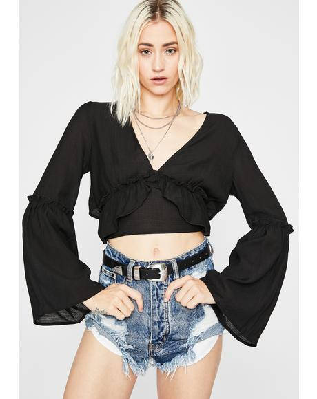Dark Set The Standard Crop Top