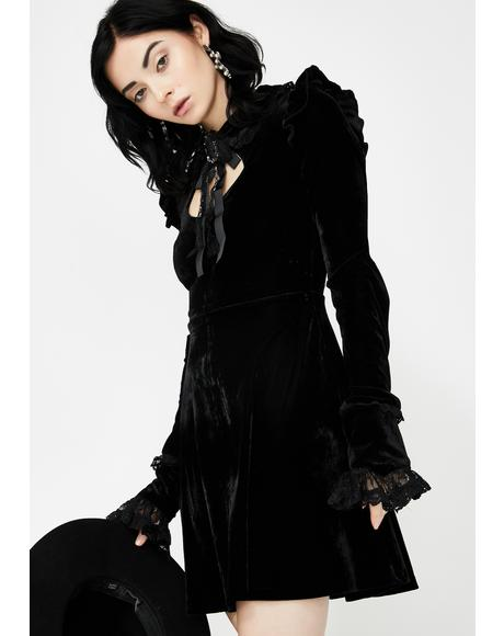 Fall From Grace Velvet Dress