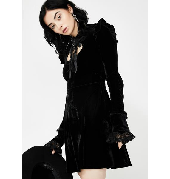 Killstar Fall From Grace Velvet Dress
