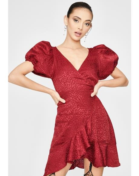 Raspberry Dolly Mini Dress