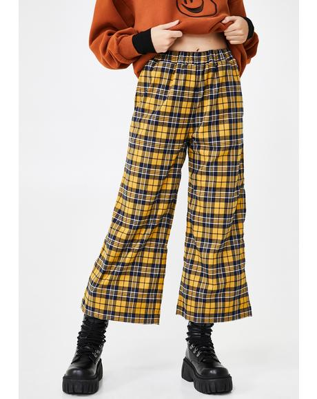 Checkpoint Wide Leg Trousers