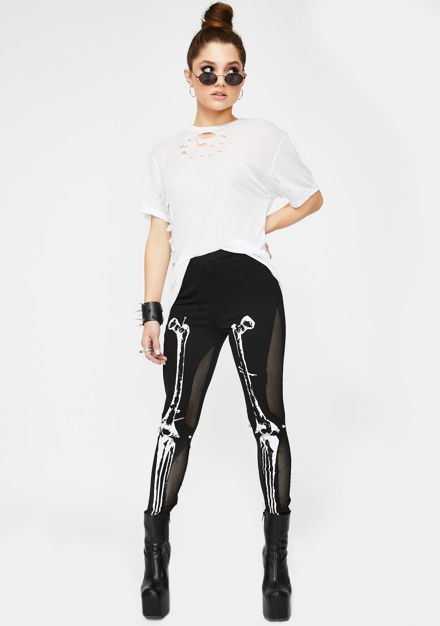 Devil Fashion Skeleton High Waist Leggings