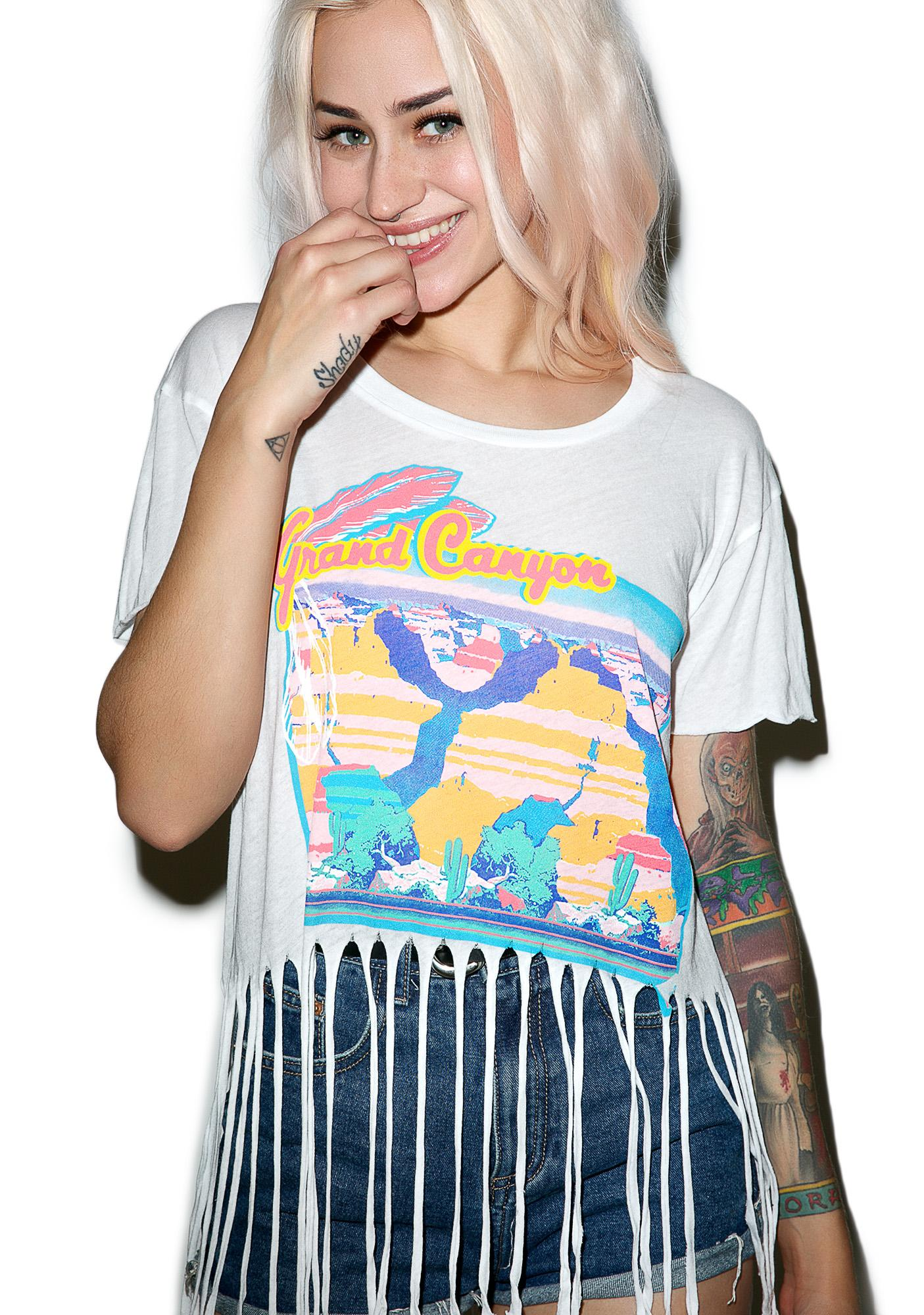 Wildfox Couture Rider Festival Fringe Tee