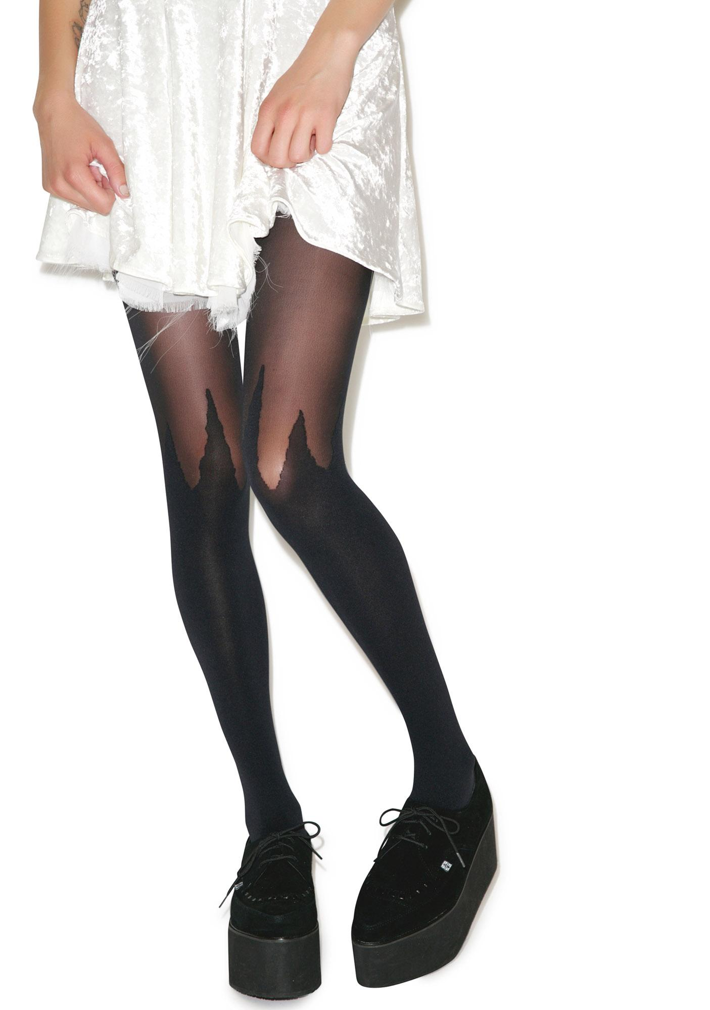 House of Holland x Pretty Polly Spike Mock Hold-Up Tights
