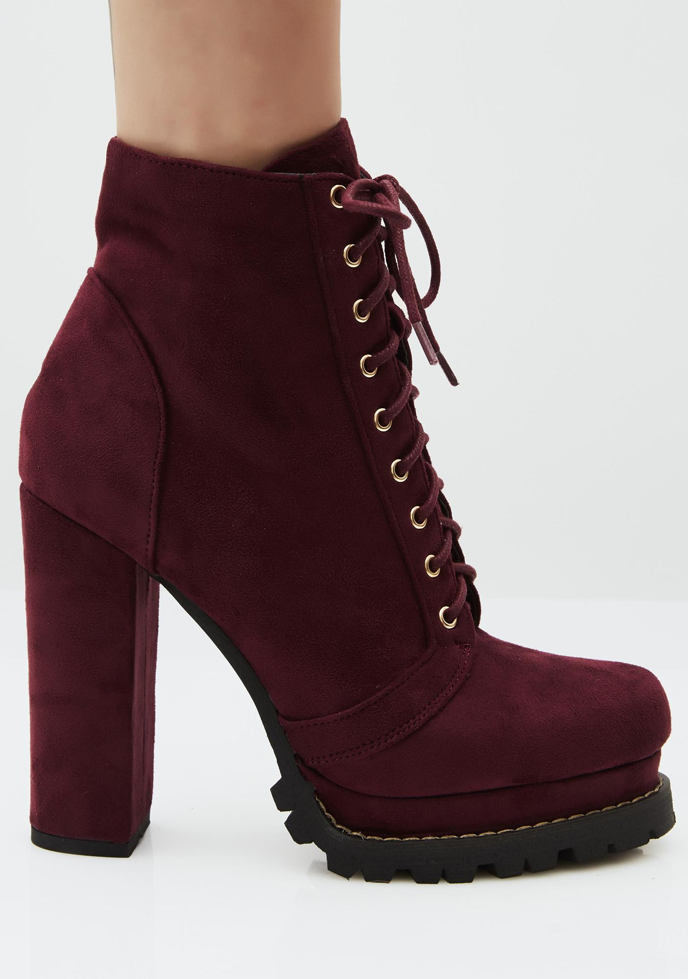 Sassy Stepper Lace-Up Boots