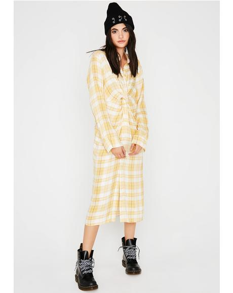Say Hello Plaid Dress