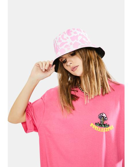 Big Moood Cow Print Bucket Hat