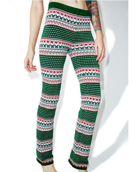 Little Elf Knit Leggings