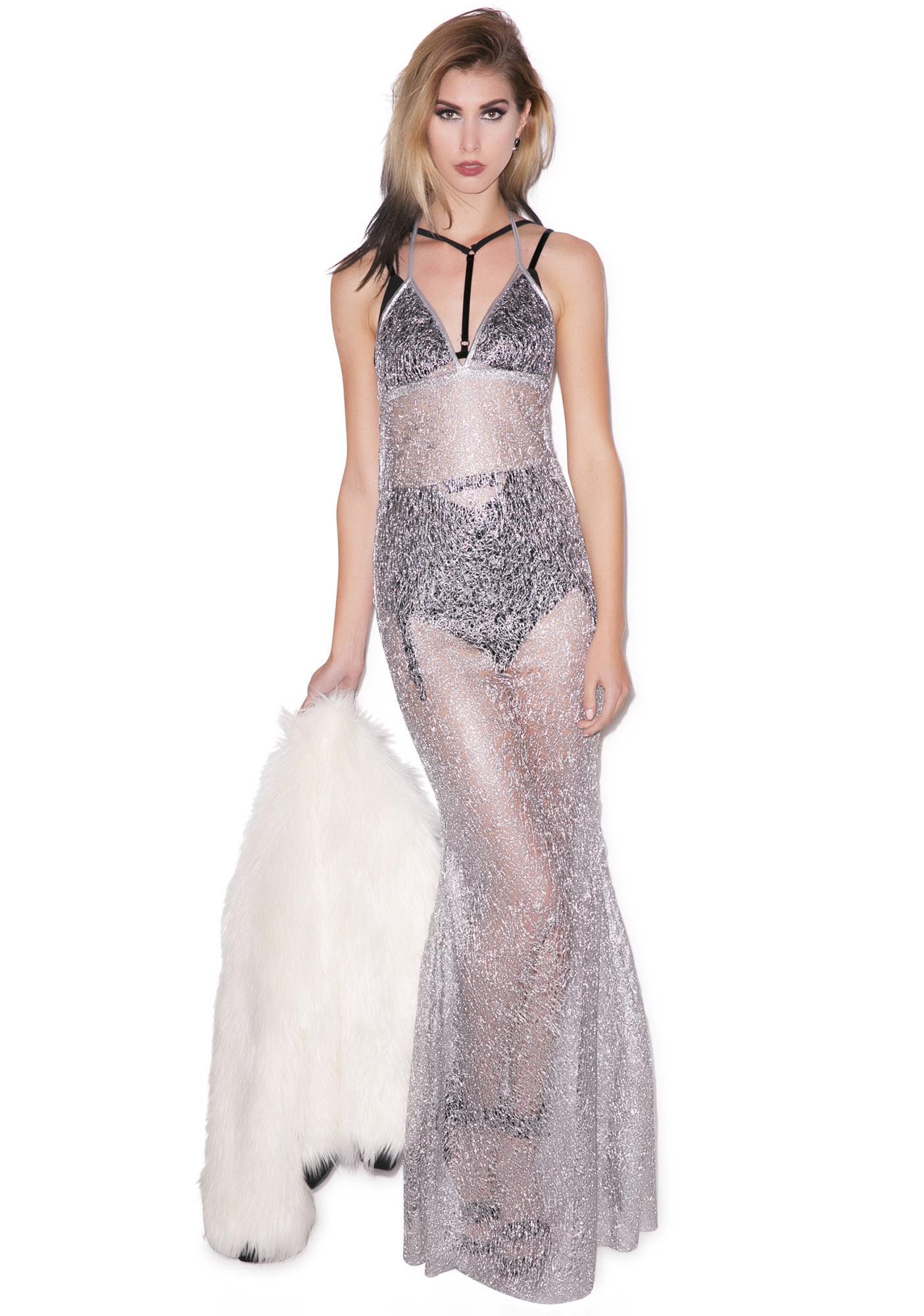 J Valentine Josie Stevens Spun Drizzle Gown | Dolls Kill