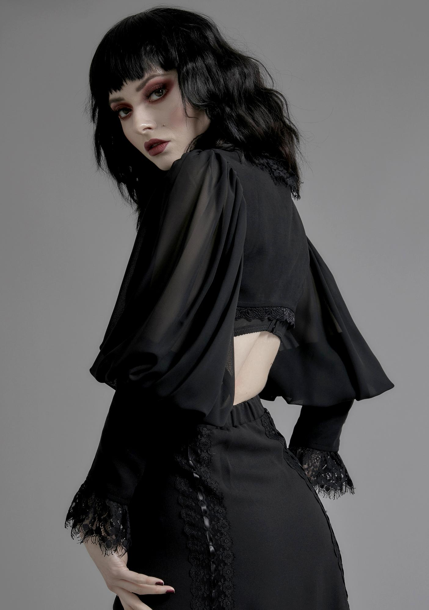 Widow Forevermore Puff Sleeve Shrug