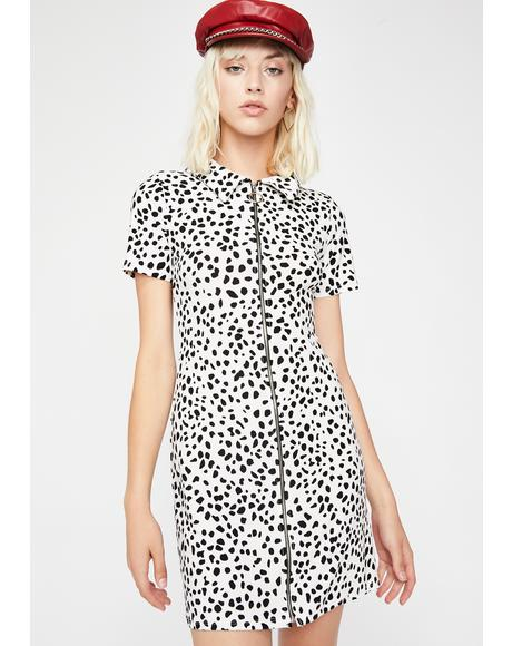Ella De Vil Dalmatian Dress