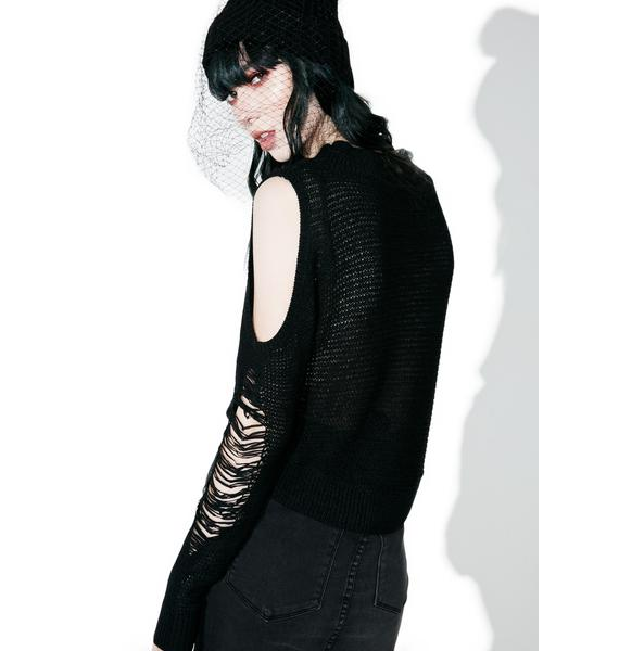 Killstar Destroy Everything Crop Knit