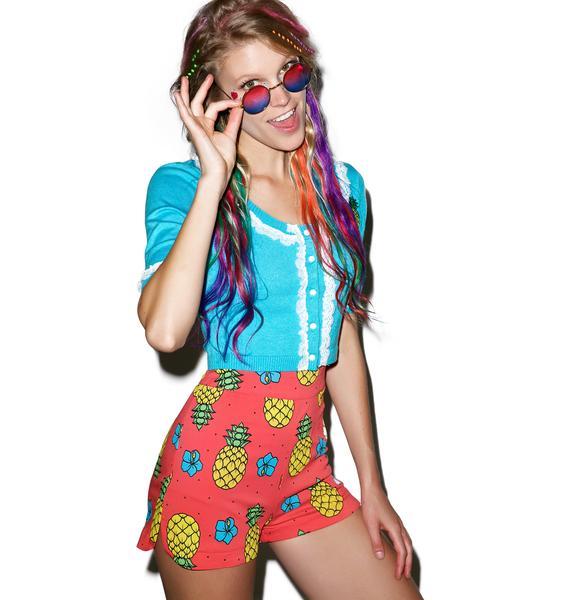 Sourpuss Clothing Pina Colada Sweetie Pie Shorts