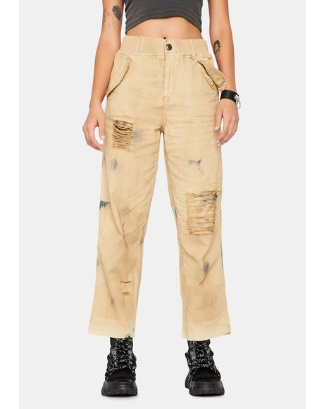 Freddie Distressed Pants