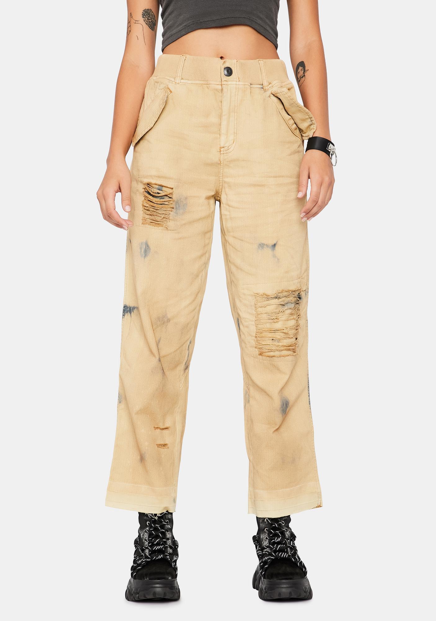Free People Freddie Distressed Pants