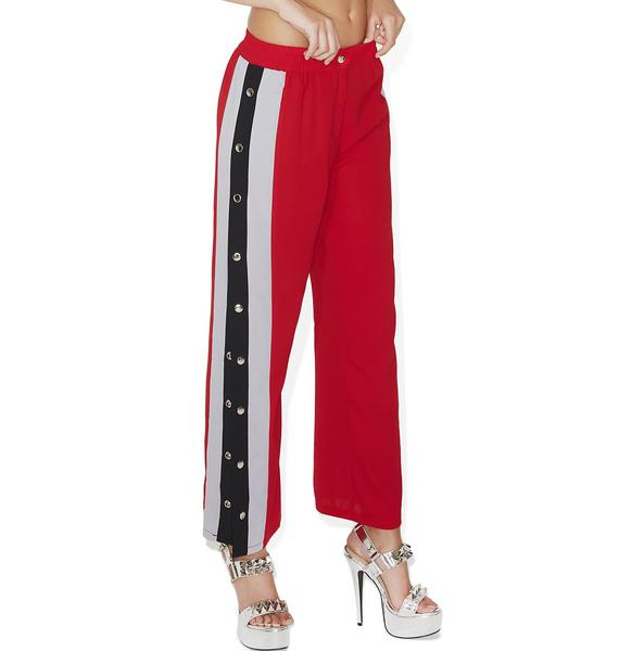 Take First Place Button Track Pants