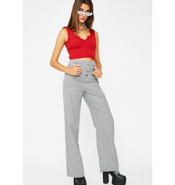 Set The Bar Houndstooth Pants