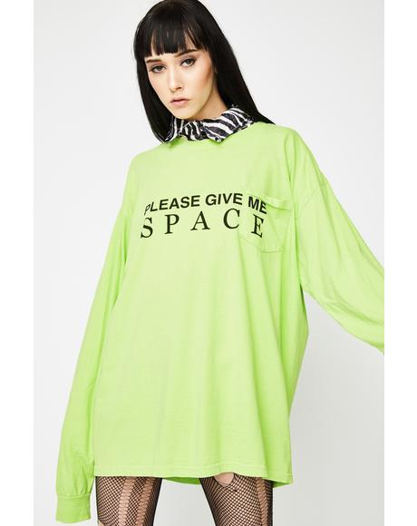 Give Me Space Long Sleeve Tee