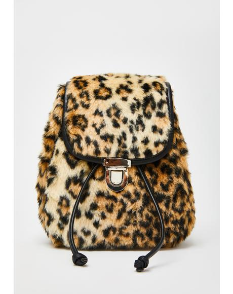 Sass Qween Leopard Backpack