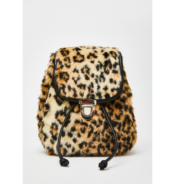 Current Mood Sass Qween Leopard Backpack